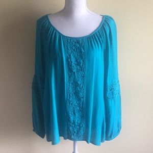 Lilly Pulitzer Briony Blouse in Deep Cyan
